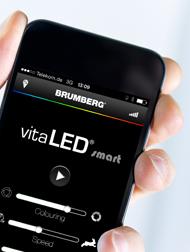 Brumberg - vitaLED smart: Farblichtsteuerung per Handy oder Tablet